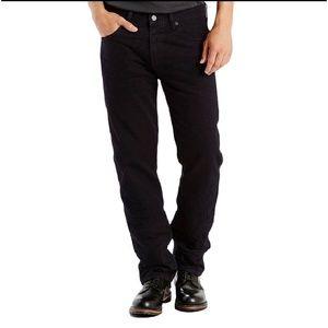 Levi's 501 button fly black jeans 38×29